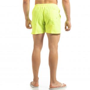 Șort de baie galben neon Basic pentru bărbați  2