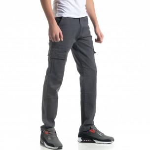 Pantaloni cargo gri de bărbați Regular fit Paladino 2