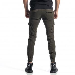 Pantaloni cargo bărbați G-9 verzi 2