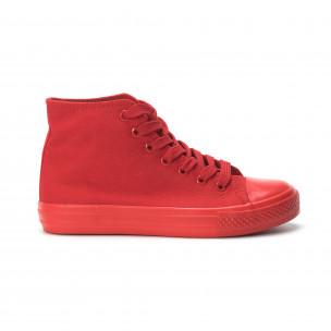 Teniși înalți roșii pentru dama