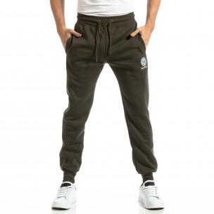 Pantaloni sport verzi groși pentru bărbați  2