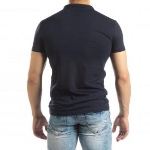 Polo shirt Basic în albastru închis pentru bărbați 2