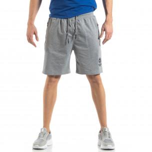 Pantaloni sport scurți gri pentru bărbați 2
