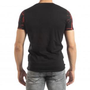 Tricou de bărbați Supple în negru și roșu  2