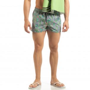 Șort de baie albastru pentru bărbați design Cactus