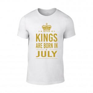 Tricou pentru barbati Kings 7 alb TEEMAN