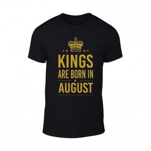 Tricou pentru barbati Kings 8 negru TEEMAN