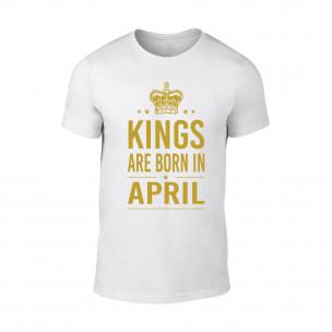 Tricou pentru barbati Kings 4 alb TEEMAN