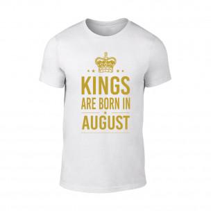 Tricou pentru barbati Kings 8 alb TEEMAN