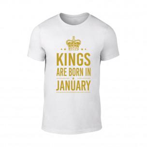 Tricou pentru barbati Kings 1 alb TEEMAN