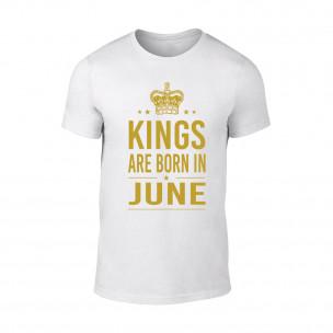 Tricou pentru barbati Kings 6 alb TEEMAN