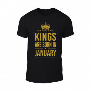 Tricou pentru barbati Kings 1 negru TEEMAN