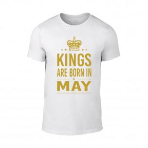 Tricou pentru barbati Kings 5 alb TEEMAN