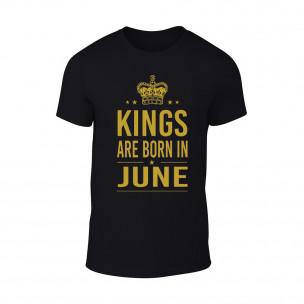 Tricou pentru barbati Kings 6 negru TEEMAN