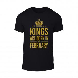 Tricou pentru barbati Kings 2 negru TEEMAN
