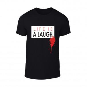 Tricou pentru barbati Laugh negru