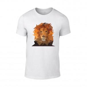 Tricou pentru barbati Lion alb