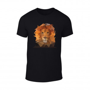 Tricou pentru barbati Lion negru TEEMAN