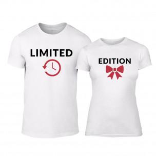 Tricouri pentru cupluri Limited Edition alb