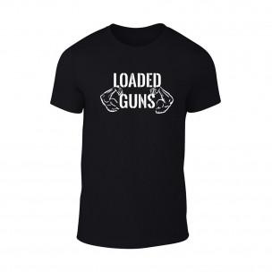 Tricou pentru barbati Loaded Guns negru, mărimea M