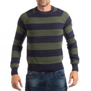 Pulover pentru bărbați RESERVED în albastru și verde