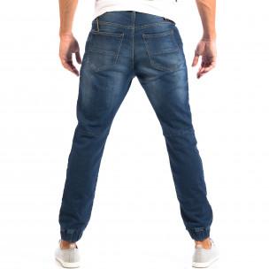 Blugi albaștri pentru bărbați House cu elastic la glezna  2