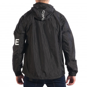 Jachetă neagră de primăvară-toamnă pentru bărbați RESERVED 2