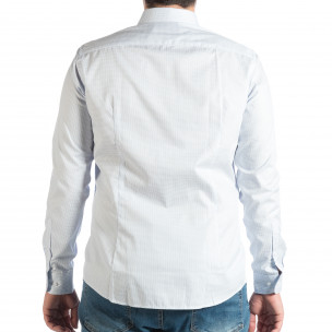 Cămașă cu mânecă lungă bărbați RESERVED albastră 2