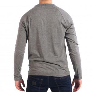 Bluză gri pentru bărbați RESERVED cu nasturi 2