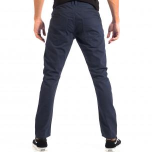 Pantaloni subțiri în albastru pentru bărbați CROPP  2