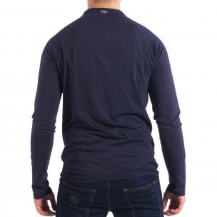 Bluză albastră pentru bărbați RESERVED cu nasturi  2