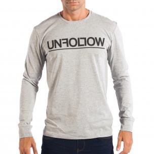 Bluză gri pentru bărbați House UNFOLLOW