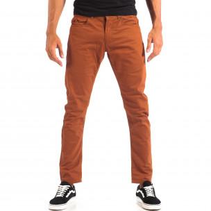 Pantaloni subțiri în camel pentru bărbați CROPP