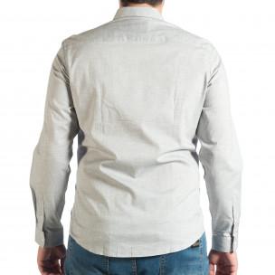 Cămașă cu mânecă lungă bărbați RESERVED gri  2