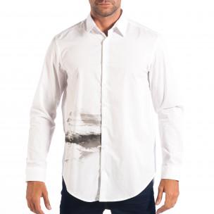 Cămașă albă cu imprimare Regular fit RESERVED pentru bărbați