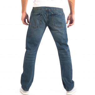 Blugi albaștri în stil Vintage pentru bărbați   2