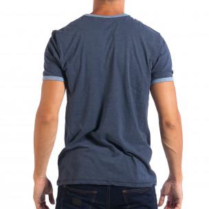 Tricou albastru pentru bărbați RESERVED   2