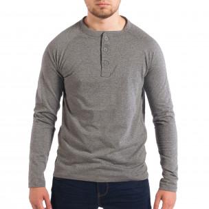 Bluză gri pentru bărbați RESERVED cu nasturi