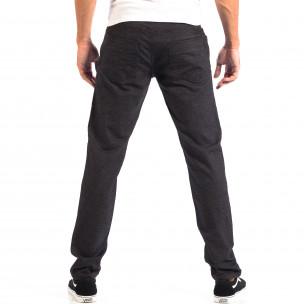 Pantaloni Slim pentru bărbați RESERVED în melanj negru  2