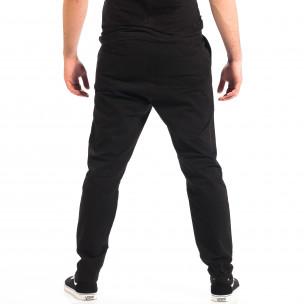 Pantaloni negri Cropped Chino pentru bărbați RESERVED   2