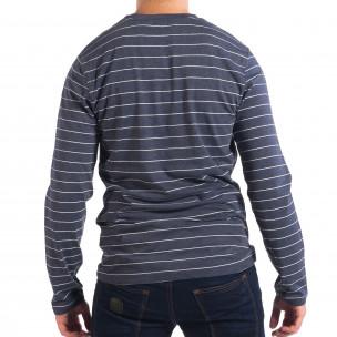 Bluză albastră în dungi pentru bărbați RESERVED   2