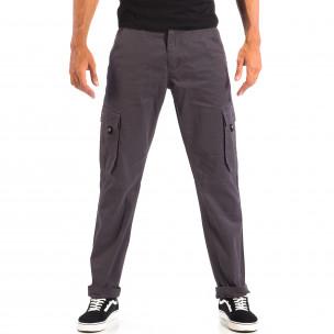Pantaloni cargo bărbați House gri
