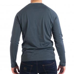 Bluză albastră pentru bărbați RESERVED Organic Cotton 2