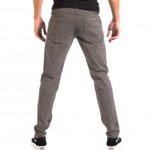 Pantaloni Slim pentru bărbați RESERVED în melanj gri 2