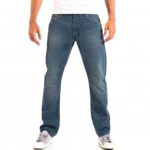 Blugi albaștri în stil Vintage pentru bărbați