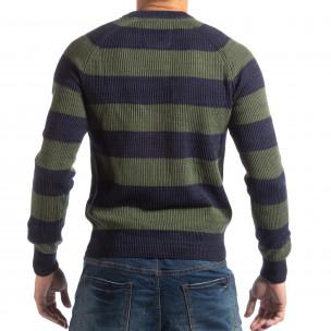 Pulover pentru bărbați RESERVED în albastru și verde 2