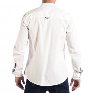 Cămașă cu mânecă lungă bărbați CROPP albă  2
