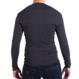 Bluză albastră elastică pentru bărbați House  2