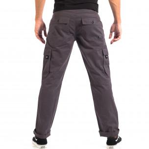 Pantaloni cargo bărbați House gri  2