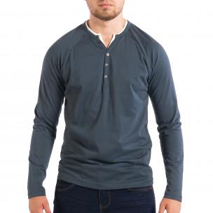 Bluză albastră pentru bărbați RESERVED Organic Cotton